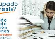 Asesoría profesional en tesis, capacitación, proyectos, caap ayuda personalizada.