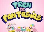 animaciones infantiles con parlante, transporte, pintacaritas 0981029521 tren de fantasias