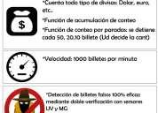 Contadora y detectora de billetes marca henry l-250 nueva detección 100% de billetes falsos