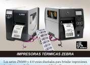 impresora zebra serie zm400 y zm410