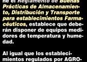 Termometros para locales sujetos a control de agrocalidad.