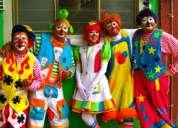 Payasos payasas fiestas infantiles, show divertidos mago, mimo, inflables, baby shower, $55