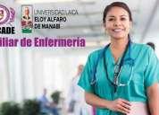 Auxiliar de enfermería con aval universitario