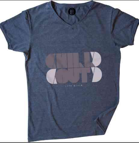 Camiseta De Hombre Funky Monkey - Estampe Simetría - En V