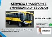 Servicio de transporte empresarial, escolar y turismo