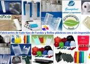 Fabrica de plástico, rollos de polietileno, plástico termoencogible