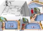 Piscinas. 3d. renders. diseños. arquitecto.
