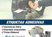 Impresoras zebra tintas ribbond qfilm etiquetas