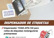 Dispensador de etiquetas towa apn100
