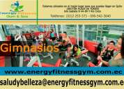 Gimnasio y spa energy fitness en quito.