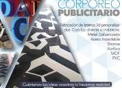 letrero luminoso corporeo letras 3d diseño grafico microperforado fotografia