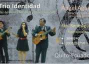 Trío identidad, serenatas musicales