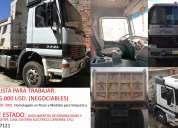 actros 3340. volqueta. negociable