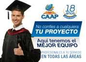 Caap centro de ayuda académica asesoría en tesis, monografías, proyectos.