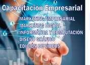 Cursos de capacitación, marketing digital. y otros.