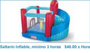 !ALQUILER DE SALTARIN, INFLABLE, $120 POR 2HRS GRTIS ALGODON AZUCAR, PINTUCARITA, PAYASITO MAGO..