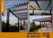 Diseño e instalaciòn de pérgolas en metal y madera