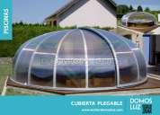 Estructuras con cubiertas con policarbonato y domos