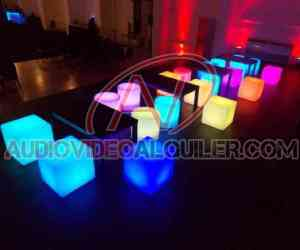 MOBILIARIO LED ALQUILER