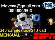 Televexa 240 canales por solo 10 usd mensual