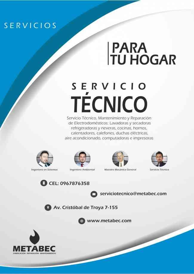 METABEC Ecuador Equipos industriales y electrodomésticos