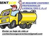 Rentacm requiere choferes con licencia c, d y e
