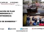 Plan de emergencia y contingencia. luae. bomberos. garantizado.
