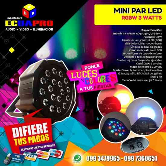 LUCES LED PARA CONCIERTOS