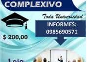 CapacitaciÓn para rendir examen complexivo (loja)