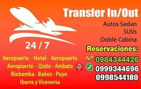 Servicio de Auto ejecutivo VIP PUERTA A PUERTA  PUYO QUITO AEROPUERTO