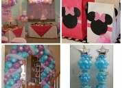 Decoracion de eventos a domicilio, fiestas infantiles e institucionales, arreglos con globos