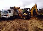 Alquiler de retroexcavadora gallineta, excavadora, compactador vibroapisonador loja