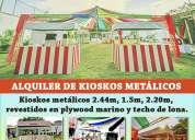 Alquiler de kioskos metálicos para eventos