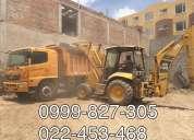 Realizamos desbanques, nivelaciones, derrocamientos,excavaciones