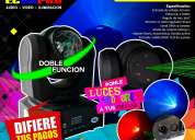 2 DOBLE FACE-LED RGW-LASER + 1 MÁQUINA DE HUMO LED