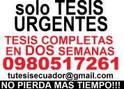 tesis urgentes servicio 24 horas profesionales tercer y cuarto nivel