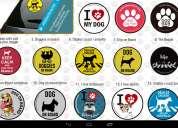 Articulos de paseo en auto para perros; cinturon,forros, adhesivos, etc