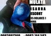 Isaura candente barranquillera escort mulata rellenita placer sexual 0983897369