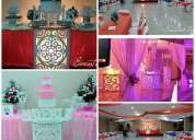 Buffet local dj bocaditos torta decoraciones cotice al whatsapp al 0986270714