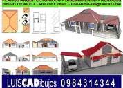 arquitecto gestiona: aumento y remodelación, renders, diseños en 3d, cad
