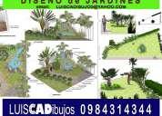 Jardines. diseños. patios. piscinas. cascadas