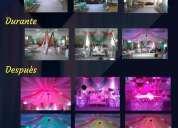 Telones, telares , cortinas e iluminaciòn led para eventos.