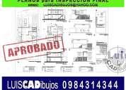 arquitecto gestiona: registro de construcción, inspección final.