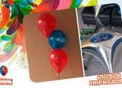 Decoraciones y arreglos con globos impresos y jarros sublimados