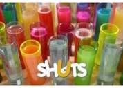 12 x vasos tequileros neon + 12 x globos neon fiesta