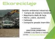 Compro chatarra, cobre , aluminio, hierro, bronce, maquinaria industrial