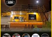 Food truck de venta 🚚  🍔  🍗  🍟 con creación de marca y material publicitario.