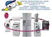 Reparacion lavadoras, secadoras, aires acondicionado split inverter