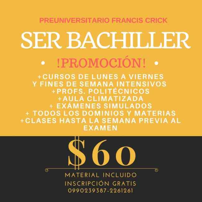 Curso Ser Bachiller Ineval Unificado 0990239387 Profesionales Espol 2261261 Garantizado!