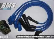 Cables de bujias racing chevrolet  spark 3 cilindros - daewoo matiz 3 cilindros.